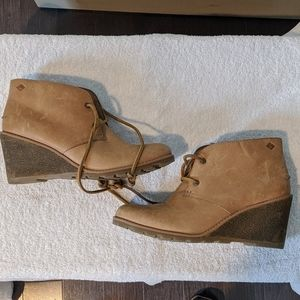Sperry Leather Wedges